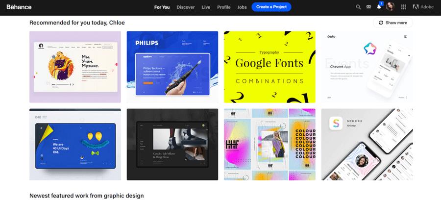 سایت طراحی UI -Behance