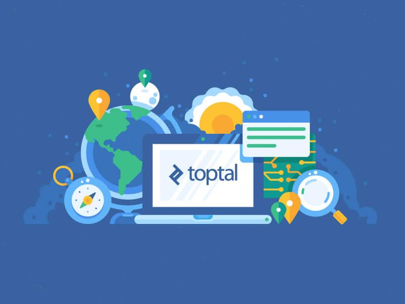 طراحی ایلوستریتور-Toptal illustrations