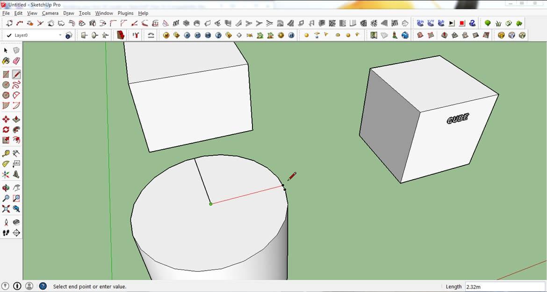 ابزار برش SketchUp