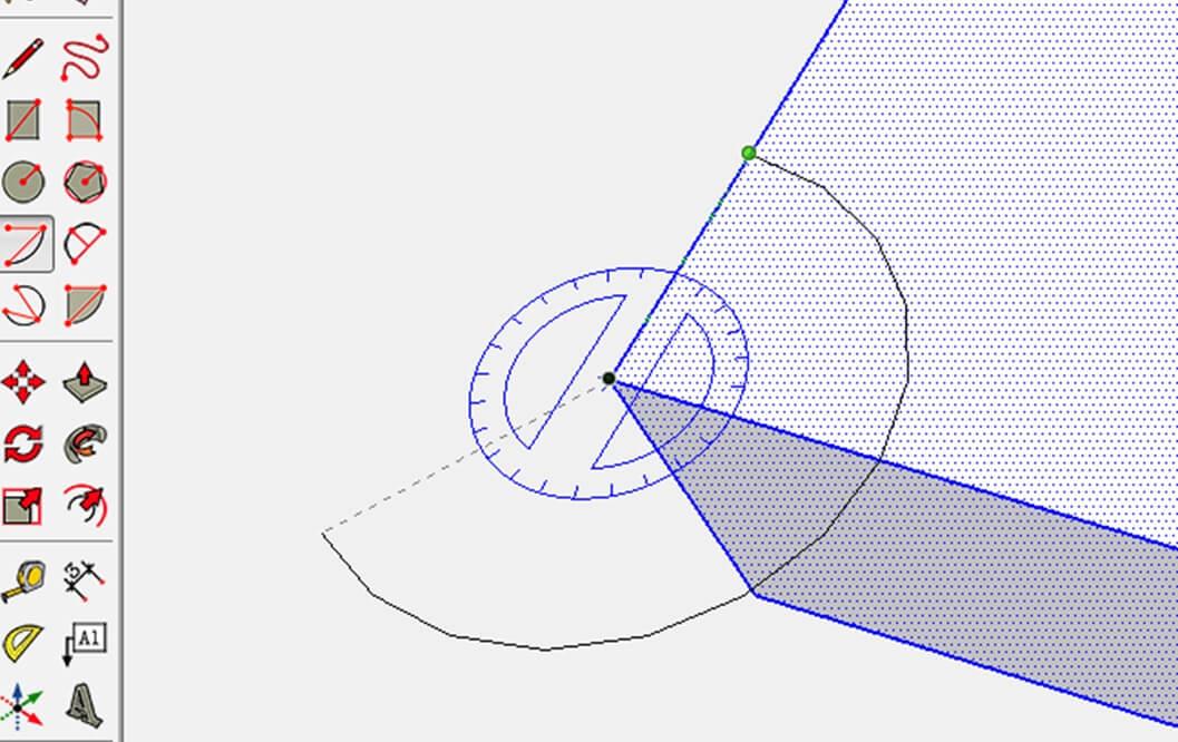 آموزش SketchUp - رسم یک کمان