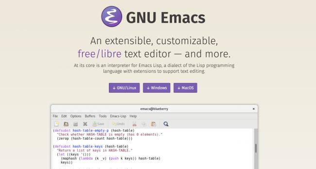 ویرایشگر کد - GNU Emacs