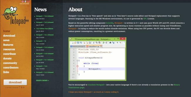 ادیتور کد - Notepad++