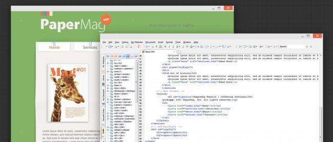 ویرایشگر کد - CoffeeCup HTML Editor