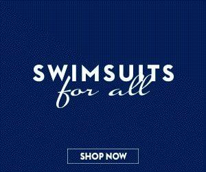 بنر شرکت Swimsuits For All با جایگاه لوگوی نامناسب