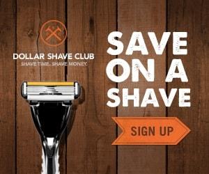 بنر شرکت Dollar Shave Club تاکید بر CTA