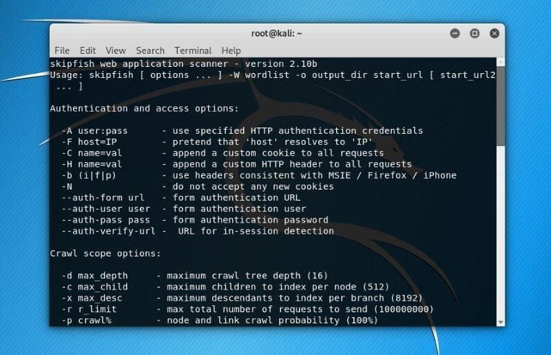 Skipfish ابزار بررسی اپلیکیشنهای تحت وب