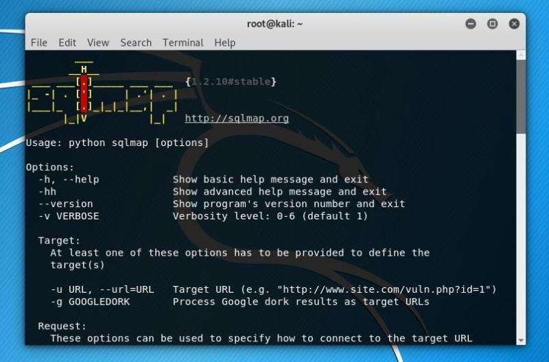 sqlmap ابزار تست نفوذ متن باز