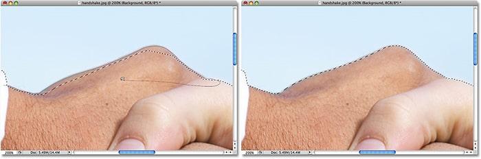 مثال کار با ابزار Lasso در فتوشاپ
