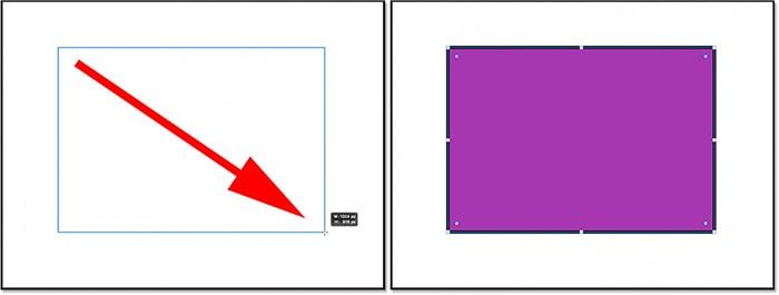 مثال کار با ابزار Rectangle در فتوشاپ